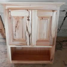 Rustic Bathroom Wall Cabinet Amish Made Custom Bathroom Wall Cabinet Rustic Hickory