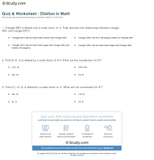 quiz u0026 worksheet dilation in math study com