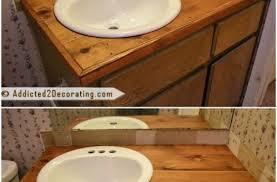 Diy Vanity Top Wood Vanity Top Bathroom 20 Gorgeous Diy Vanities To