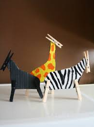 home eco nanay clothes pin craft animals projects to try