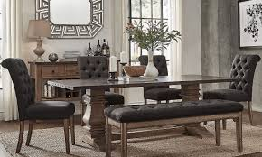 dining room sets with fabric chairs how to choose elegant dining room furniture overstock com