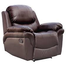 madison real leather recliner armchair sofa home lounge chair