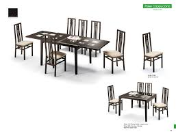 casual dining room chairs poker cappuccino table and scala chairs modern casual dining sets