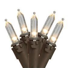 set of 35 warm white led mini lights 4 spacing brown