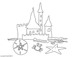 easy sand castle coloring page click small image open large 484865