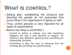 controlling definition control process