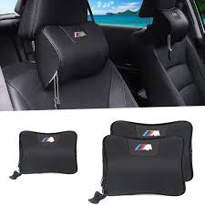 siege auto bmw for car bmw m leather neck memory foam auto seat cover