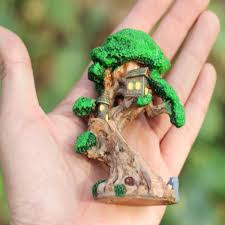 old tree house mini garden ornament miniature figurine craft diy