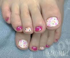toenail art design pink and black toes diseño de uñas de pies toe