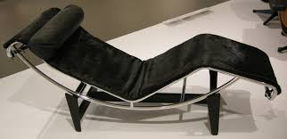 contemporary le corbusier chaise lounge chair black come with