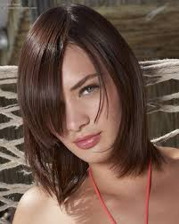 medium length bob hairstyle with tapered and smooth lines