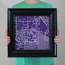 Kansas State Campus Map by Kansas State University Campus Map Art City Prints