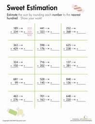 rounding sweet estimation third grade third grade math and