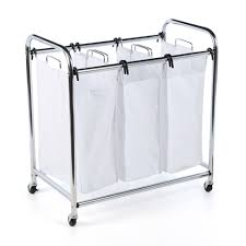 Laundry Divider Hamper by Laundry Room Laundry Sorter On Wheels With Stylish Rolling