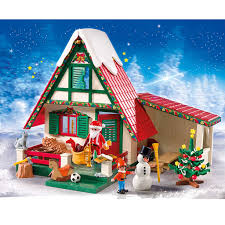 Winter House Decoration Game - amazon com playmobil santa u0027s home toys u0026 games