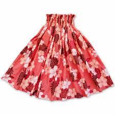 hawaiian pattern skirt sunburst orange single pa u hawaiian hula skirt lavahut