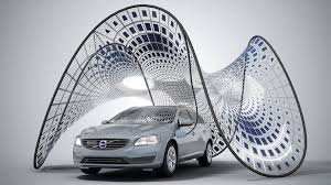 volvo electric car volvo pure tension pavilion electric car charger by sda
