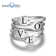 online get cheap custom engraving ring women aliexpress personalized jewelry initial stackable ring custom engrave name sterling silver rings for women one