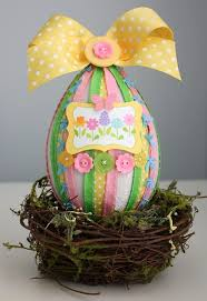 paper mache easter eggs paper mache easter egg may arts wholesale ribbon company