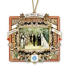 2007 white house ornament a president marries in the