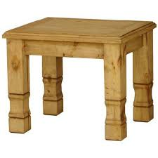 rustic pine end table rustic pine collection julio end table lat217