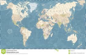 Vintage World Map by Vintage World Map Vector Illustration Stock Illustration Image