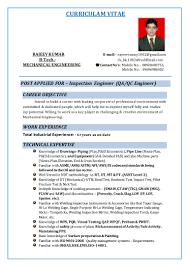 Career Objective For Resume Mechanical Engineer 2016 Resume Of Rajeev Kumar Inspection Engineer Surveyor 1