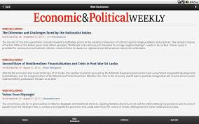 economic and political weekly android apps on google play