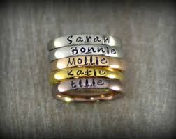 mothers day rings with names stackable name rings etsy