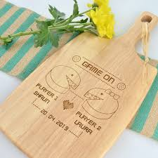 wedding cutting board retro inspired wedding paddle chopping board personalized favors
