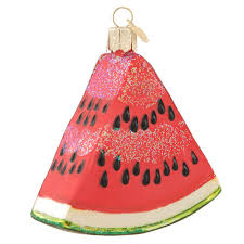 watermelon wedge glass ornament old world christmas ornaments