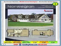 norwegian rochester modular home cape cod multi level plan price