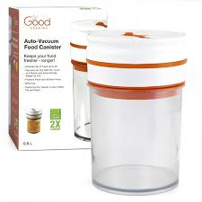 what to put in kitchen canisters amazon com food storage container 0 8l electronic auto vacuum