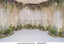 wedding backdrop wedding backdrop flower wedding decoration stock photo 540635491