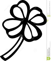 four leaves shamrock or clover vector illustration stock image