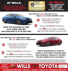 wills toyota used cars wills toyota ad from 2017 11 19 ad vault magicvalley com