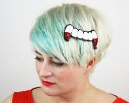 bloody vampire teeth hair clip glitter janine basil u0027s boutique
