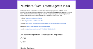number of real estate agents in us
