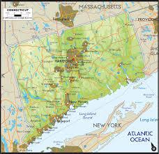 Elk Population Map Physical Map Of Connecticut Ezilon Maps