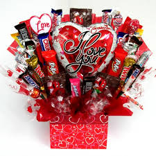 Candy Basket I Love You Candy Bouquet
