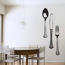 dining cutlery set wall art decals dining cutlery set wall art decal
