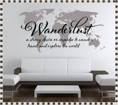 world map wall decal with pins home decorations ideas image of world map wall art decal