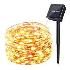 Copper String Lights by Solar Garden U0026 Patio Lights Solar Led Christmas String Lights