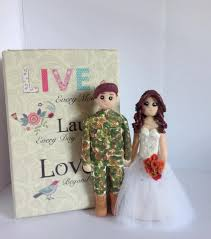army wedding cake topper personalised polymer clay military