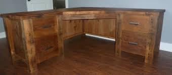 reclaimed wood l shaped desk barnwood office desk sedona l shaped home storage fence row photos