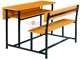 double student bench with open drawer double face desk