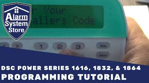 alarm system store tech video dsc power series programming youtube