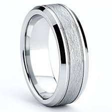 7mm ring cobalt men s brushed wedding ring comfort fit band 7mm sizes 7