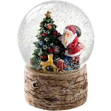 the seasonal aisle tree with birch base snow globe
