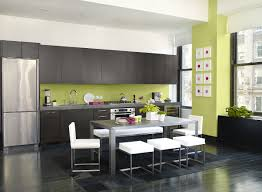 kitchen with dark green cabinets u2014 home designing